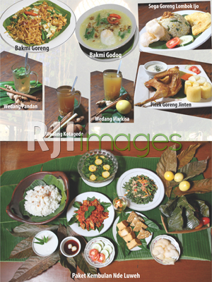 Aneka hidangan Pendopo Nde'Luweh