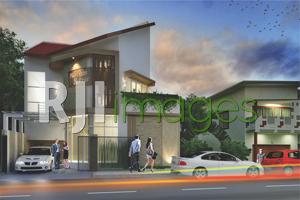 Desain Rumah Kantor Modern Tropis