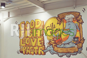 Gambar Mural yang Digunakan pada Dinding