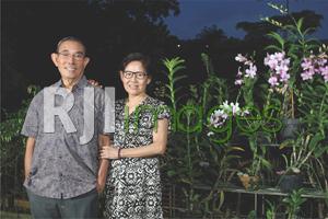 Ir. Budi Setjahusada bersama istri, Christine Lanny Singgih