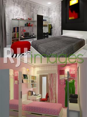 Desain Interior Kamar Tidur Utama 4x3  interior untuk rumah minimalis