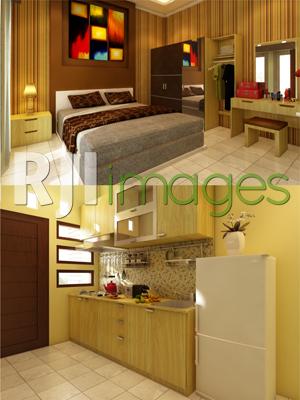 Desain Dapur Merah Hitam  interior untuk rumah minimalis