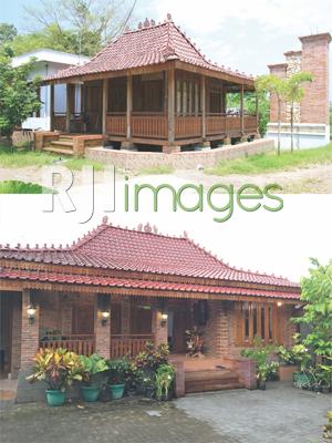 Konsep bangunan kayu Rumah Gladak dan Konsep bangunan Rumah Jawa Limasan luasan