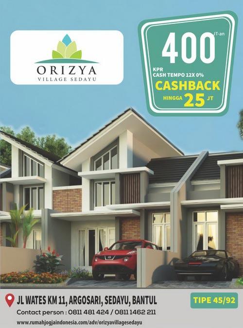 Banner Majalah Orizya Village Sedayu