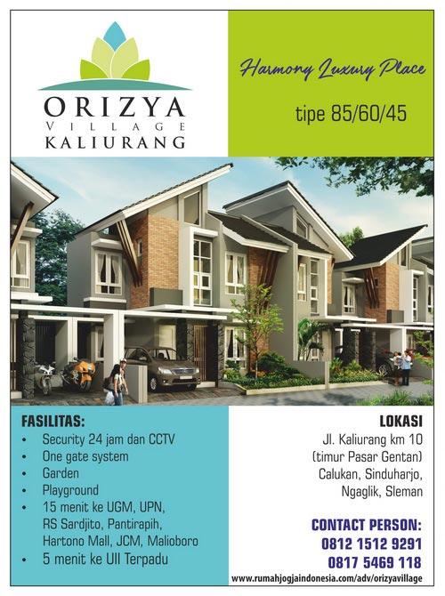Banner Majalah Orizya Village Kaliurang
