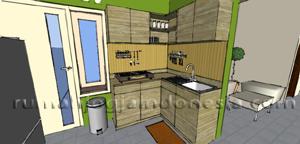Desain Dapur Modern Rustic