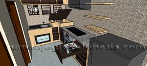 Desain Dapur Smart Mediteranian