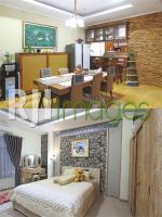 Area ruang makan dengan dapur mini bar & Kamar tidur utama bernuansa elegan