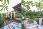 Gazebo sebagai tempat bersantai di area rooftop dan Area playground anak berlata
