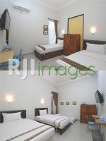 Kamar Double Bed dan Triple Bed Natura Rumah Singgah