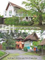 Lanscape rumah induk, rumah jaga dan rumah baca gaya paiton