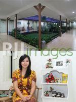 Taman di Tengah Bangunan dan Isabela Riyanti Operational manager Hotel Besar Pur