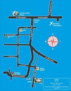 peta lokasi perumahan royal mansion banguntapan