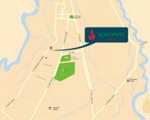 peta lokasi perumahan senopati residence
