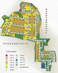 site plan perumahan pondok permai giwangan