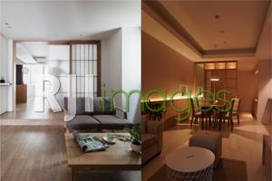 Ambience Light dan Kombinasi warna ceiling, dinding  dengan lantai dengan warna