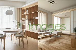 Area Dining Room & kombinasi warna furniture, dinding seiling serta perabot pele